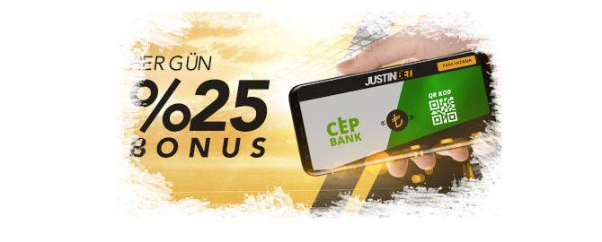 Justinbet Cepbank ve QR Kod Bonusu