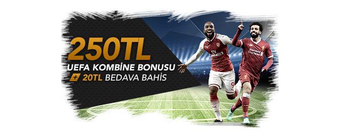 Justinbet'ten Uefa Kupasına Özel Bonus